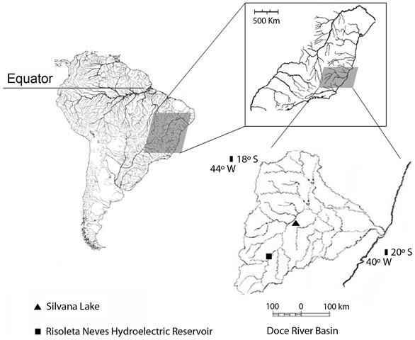 Rio Doce RIver Basin in southeastern Brazil.