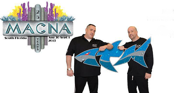 Animall Planet stars Wayde King and Brett Raymer of TANKED! will again be the center of attraction at the Reef Geek booth, in the same neighborhood as the CORAL and TWO LITTLE FISHIES booths , numbers 405 - 507.