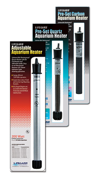 Lifegard Aquatic's 3 new lines of UL-Listed Aquarium Heaters