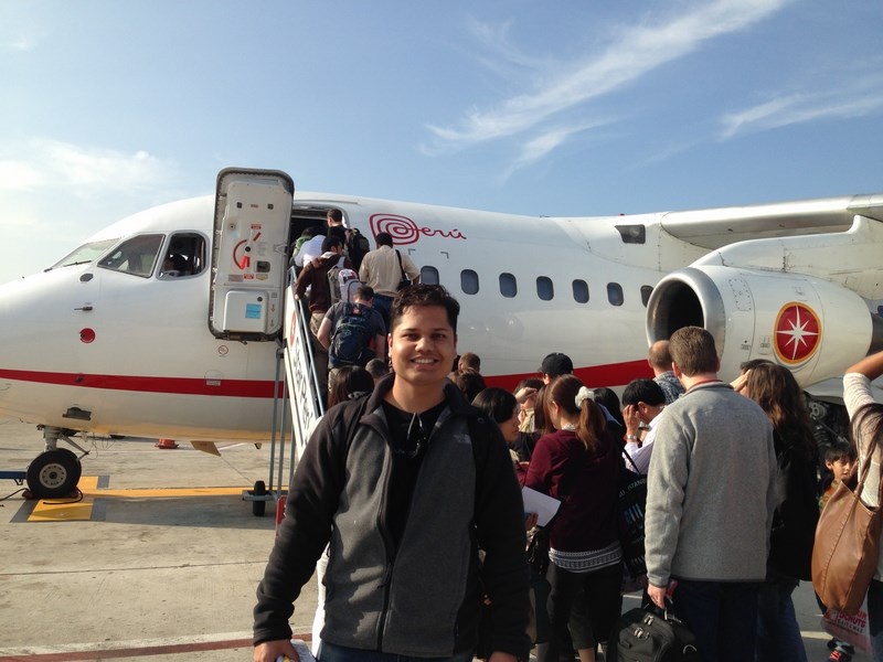 In front of my small flight from Lima to Puerto Maldonado