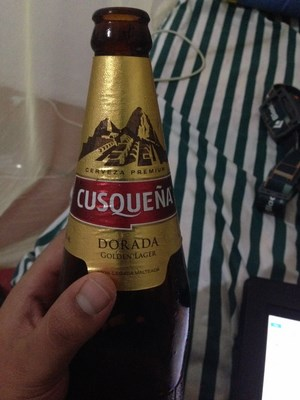 Cusqueña, a famous lager beer from Peru.