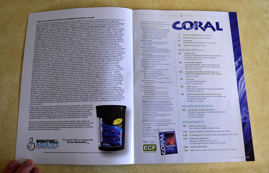 May/June 2014 Coral Magazine Table of Contents