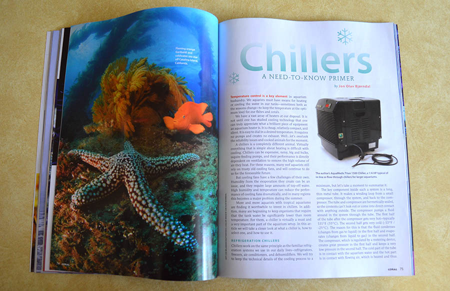Jon Olav Bjorndal brings Coral Magazine readers an essential look at chillers, just in time for summer!