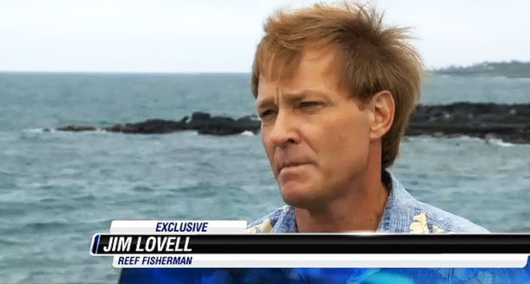 Fisherman Jim Lovell, brother Jay Lovell, claiming that fishermen were afraid of violent tactics used by Sea Shepherd in their Whale Wars confrontations. Screen image: Hawaii News Now.
