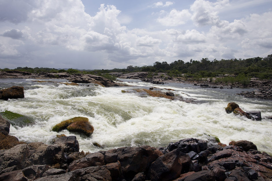 Rapids at the confluence of the Rio Iriri and Rio Xingu.