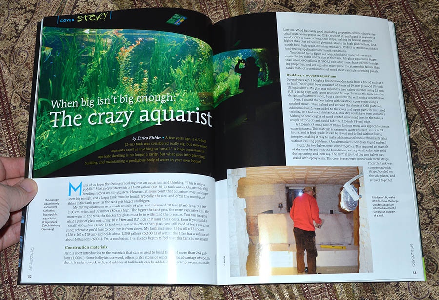 When big isn't big enough: The crazy aquarist - by Enrico Richter