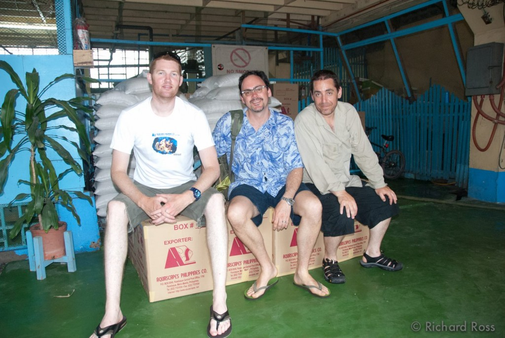 Three of Steinhart's key players behind this project - (left to right) Matt Wandell, Bart Sheperd, and Richard Ross, photographed in Manilla in 2011.
