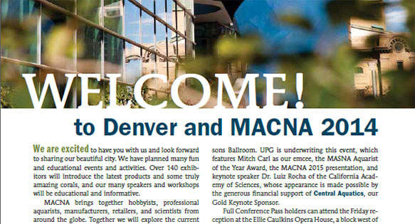Welcome to MACNA 2014 - from the MACNA Program Book