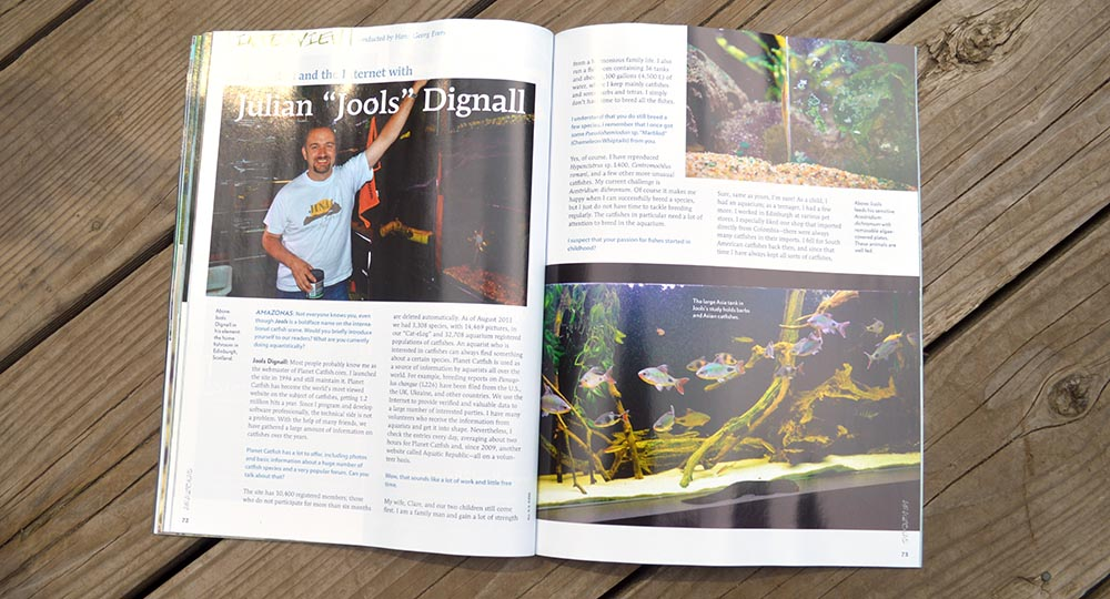 "Talking fishes and the Internet with Julian ""Jools"" Dignall, interview conducted by Hans-Georg Evers"