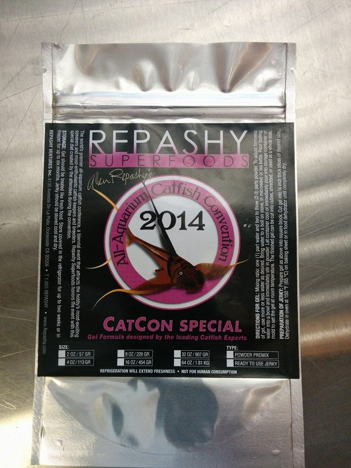 4 new and special blends of Repashy Gel Feeds for fish will be available through the 2014 Catfish Convention.