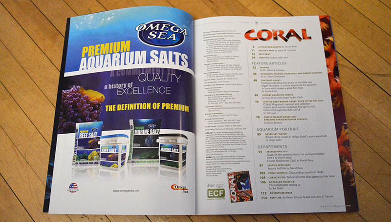 The table of contents for the Jan/Feb 2015 issue of CORAL Magazine.