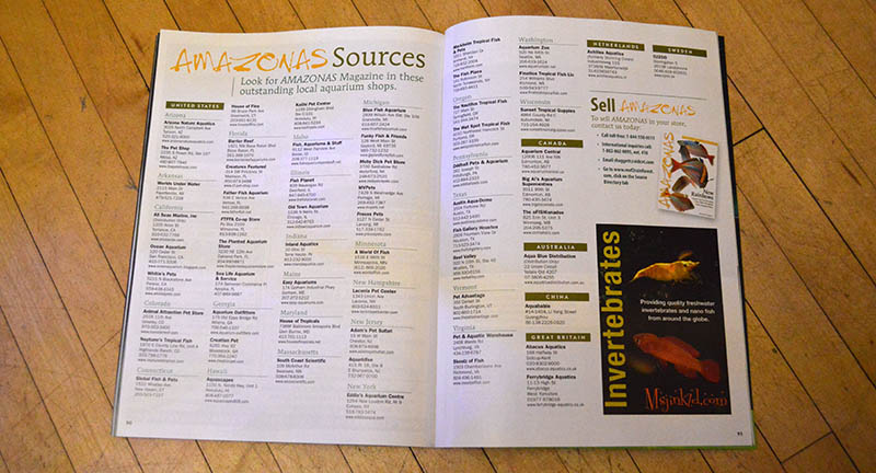 AMAZONAS Sources lists many fine retailers and distributors where you can obtain single-issue print sales of our magazine.