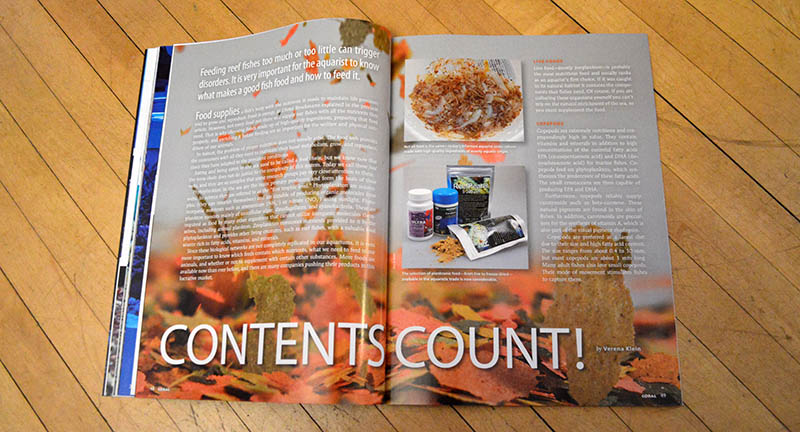 """Contents Count"" by Verena Klein, examples the dizzying array of live and prepared food offerings, their shortcomings, enrichments and supplementation, and even the delivery of medication via food."