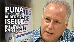 State Senator Russell Ruderman, lead sponsor of a bill to criminalize aquarium fish collection. Image credit: Big Island Video.com.