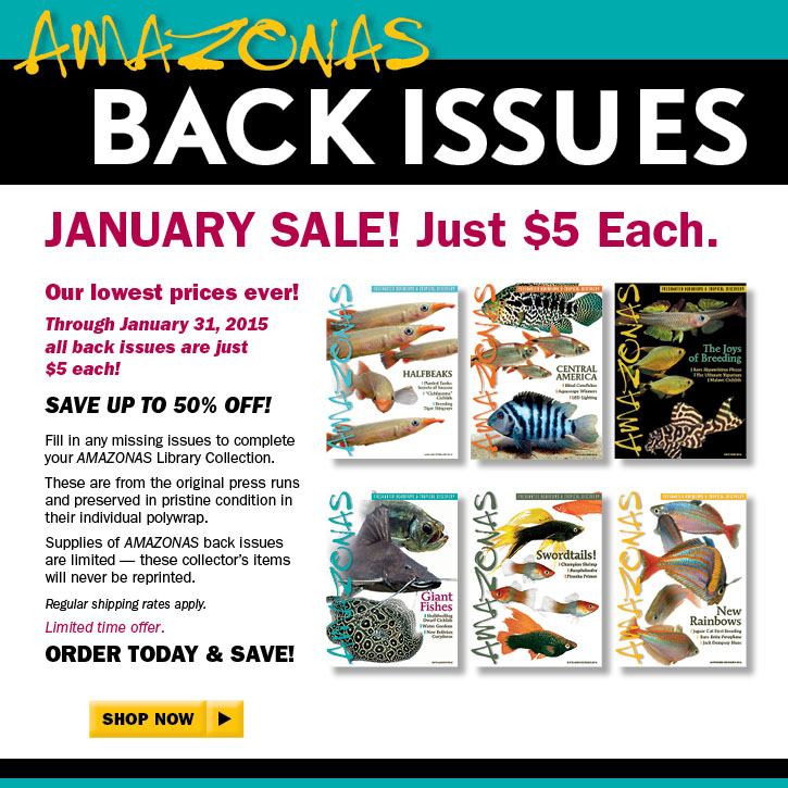 AMAZONAS Magazine Back Issue Sale 2015 - Just $5 each through January 31st, 2015. SHOP NOW!