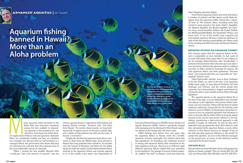 Special Report from Sr. Editor Ret Talbot on the continuing saga of anti-aquarium activists vs. aquarium fishermen.