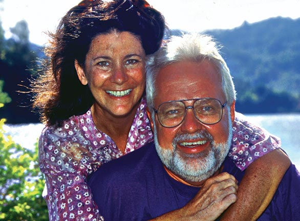 Denise Nielsen Tackett with her co-author and life partner Larry D. Tackett, circa 2000.