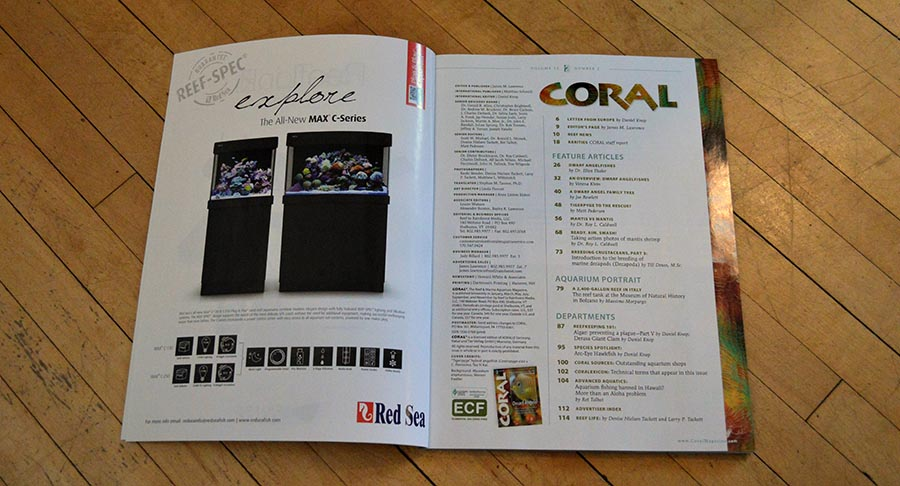 The CORAL Magazine March/April 2015 Table of Contents