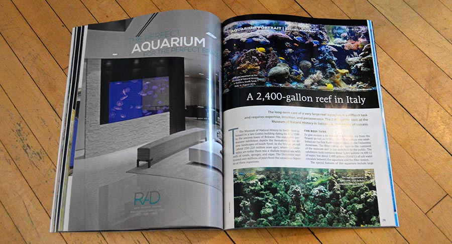 The March/April 2015 CORAL Magazine Aquarium Portrait features the 2,400 gallon reef aquarium at Italy's Museum of Natural History in Bolzano.