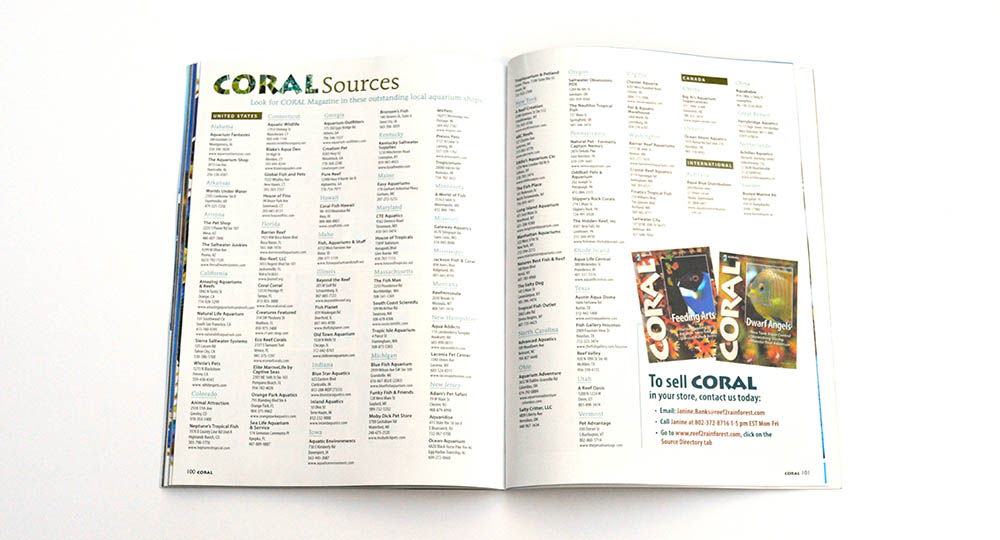 Want to see a hard copy of CORAL Magazine? Check out our many fine independent retailers!