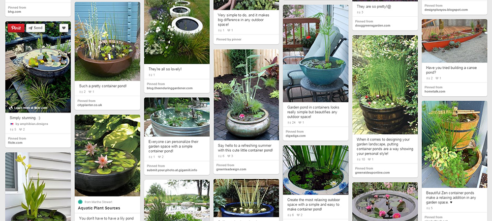 "Container Ponds & Ponds in a Pot | Short on space? Container pons and ""ponds in a pot"" fit anywhere. See more on Pinterest!"