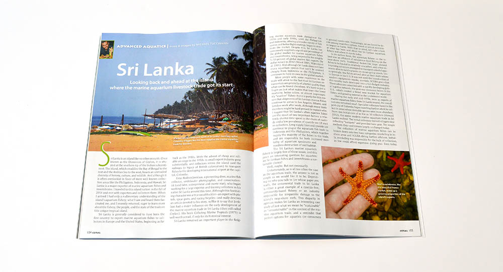 Sri Lanka: Looking back and ahead ad the island where the marine aquarium livestock trade got its start - CORAL and AMAZONAS Magazine contributor Mike Tuccinardi reports.