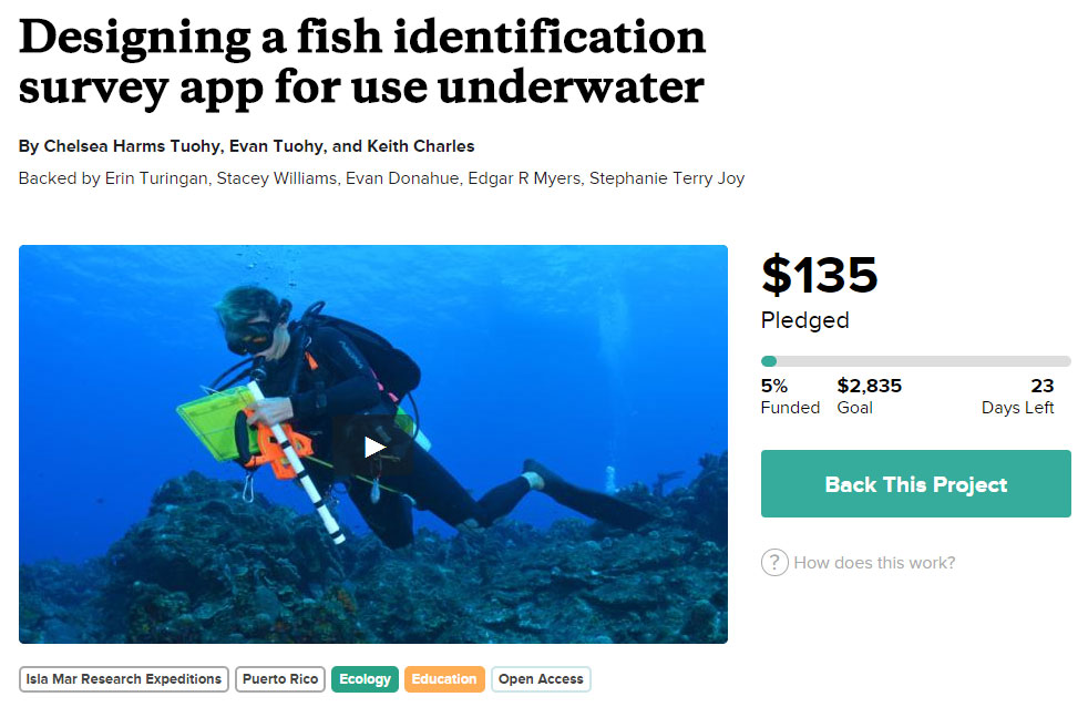 Two graduate students in Puerto Rico seek to modernize underwater fish surveys with iPad app