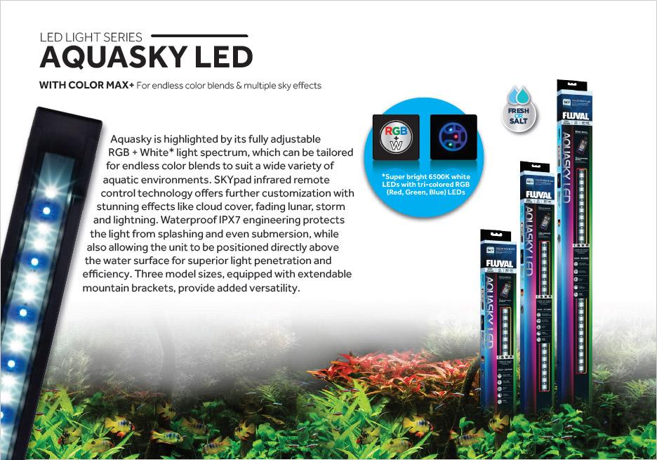 Aquasky's White + RGB design allows for custom color settings.