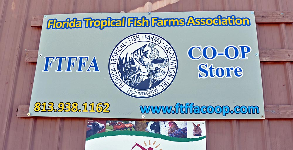 Florida Tropical Fish Farms Association Co-Op Store - serving the everyday needs of the Florida tropical fish farmer and beyond. Image courtesy Jonathan Foster.