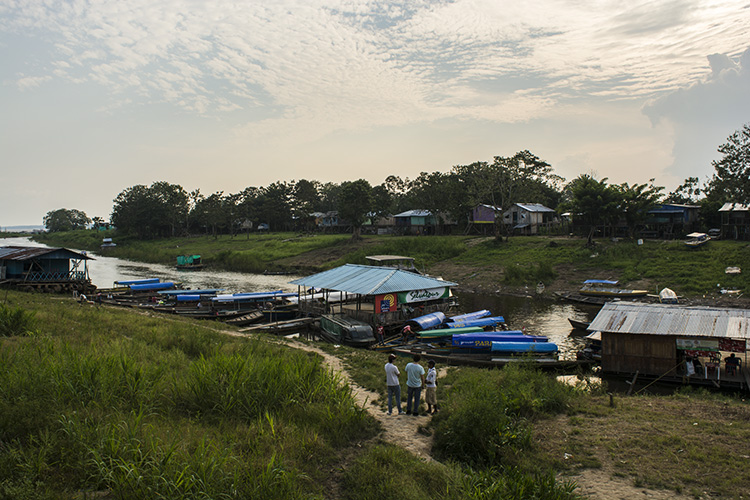 Leticia's waterfront and busy port area