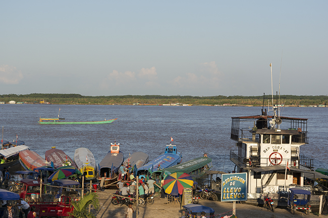One of Pucallpa's busy ports on the Rio Ucayali