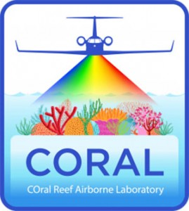 LOGO of NASA's new COral Reef Airborne Laboratory, perhaps a springboard to future monitoring from satellites.