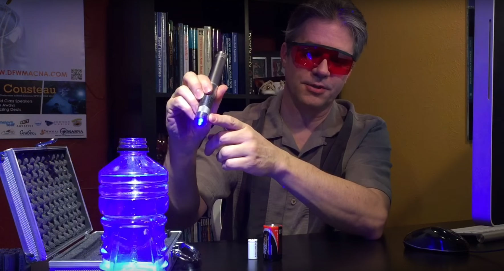 Marc Levenson demonstrates the use of a handheld laser to kill pest anemones, Majanos and Aiptasia, in your reef aquarium