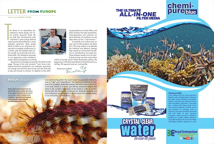 """The threat of an impending cyanobacteria attack hangs over every marine aquarist's head,"" starts Daniel Knop, introducing this issue's coverage of cyanobacteria, commonly shorthanded as red-slime algae."