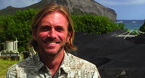 Chad Callan, Ph.D. at the non-profit Ocean Institute at Hawaii Pacific University.