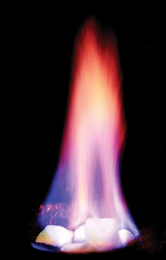 A relatively small ice volume can hold a considerable amount of methane. Melting ice releases the gaseous and highly flammable methane. U.S. Office Naval Research