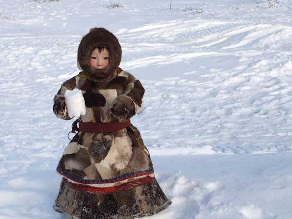 "A Nenets child on Siberia's Yemal Peninsula, the land his parents call ""World's End."" Image: Edward-Adrian-Vallance"