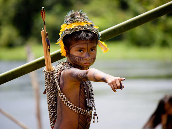 Some 13,500 indigenous people face a forced relocation if the huge Rio Tapajos dam moves forward. Image: Amazon Watch.
