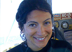 Dr. Ana Sequiera of the University of Western Australia: Discovered shrinking sizes of Whale Sharks being measured.