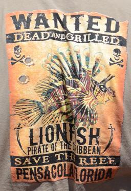 t-shirt lionfish