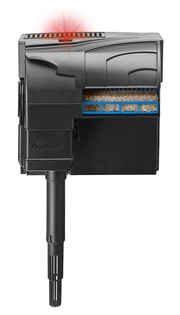 A look at the overall Aqueon QuietFlow LED filtration unit.