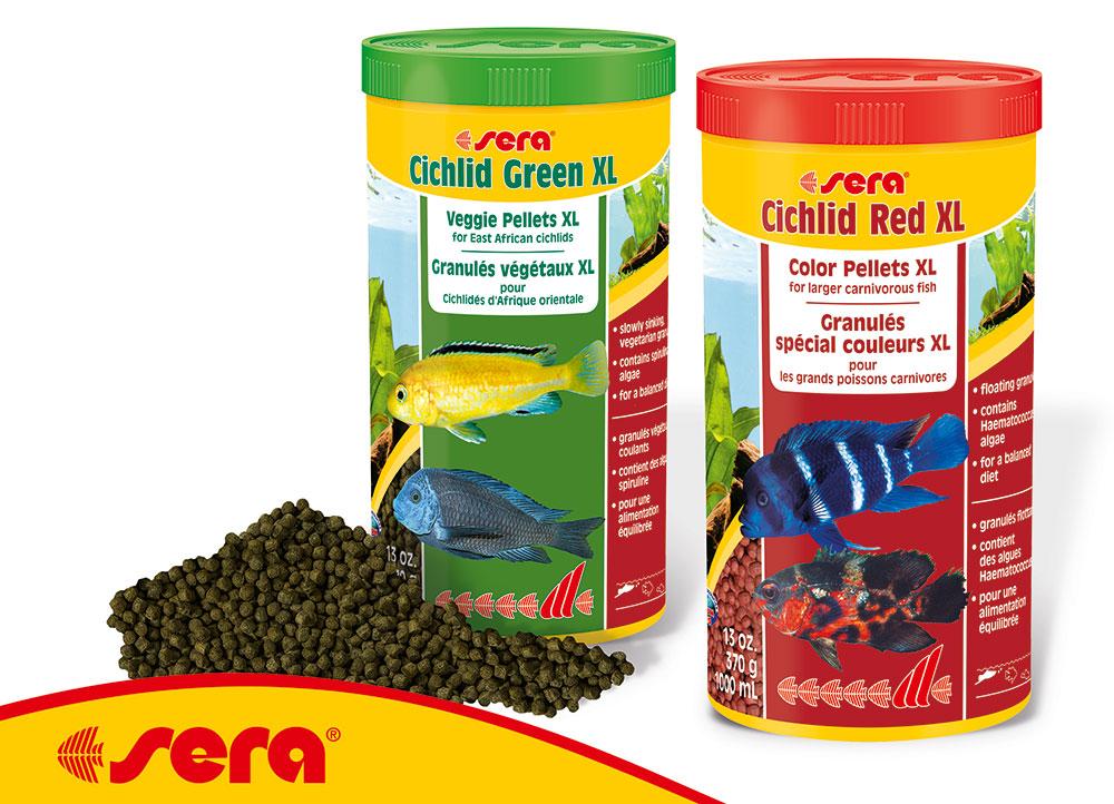 sera's new Cichlid XL Foods