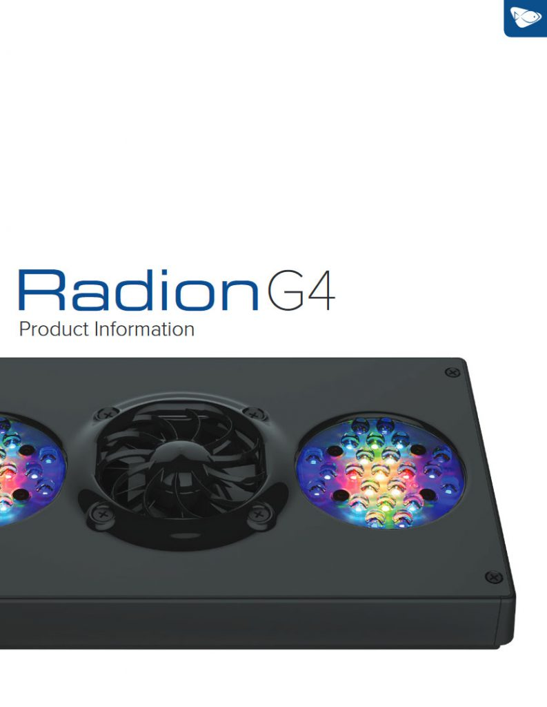 Click to download the full G4 Radion Product Information here!