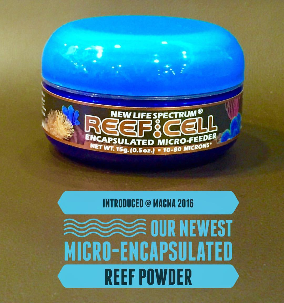 New Life Spectrum's updated Reef Cell Reef Powder, introduced at MACNA 2016