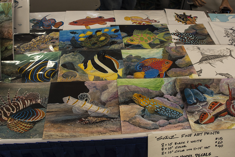 It wasn't just live fish on display. Scalz Fine Art had some beautiful artwork for sale