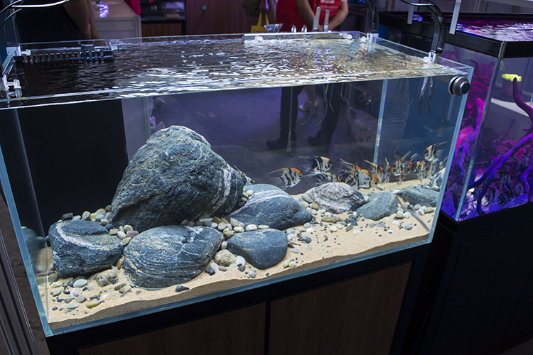 Interesting hardscape display at one of the exhibitors' booths