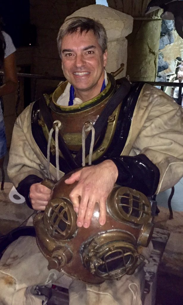 Joe Yaiullo in a vintage diving suit