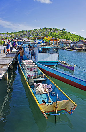 Fishing dock in the Banggai Islands where the Indonesian government has struggled to enforce fishery regulations. Image: Ret Talbot.