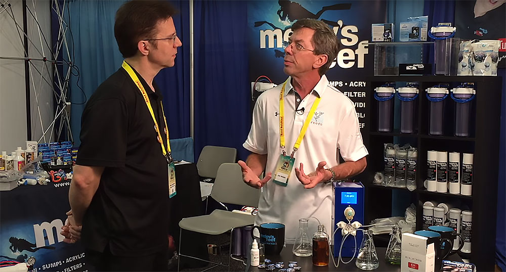 Marc Levenson of Melev's Reef interviews Jim Welsh (right) about the Alkalinity Monitor invention at MACNA 2016. Watch the video here.
