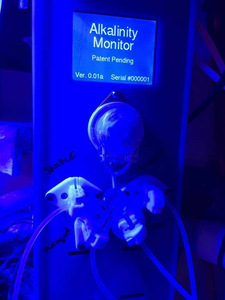 "The prototype Alkalinity Monitor out for testing at the ""secret home lab"" - image courtesy Richard Ross"